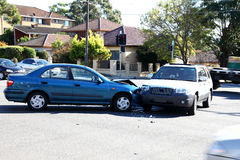 Verkehrsunfall stockbild