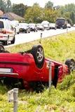 Verkehrsunfall. Auto Lizenzfreie Stockfotografie