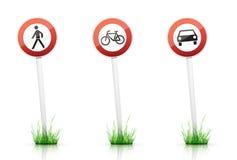 Verkehrszeichen â WARNING Stockfotografie