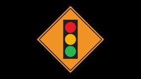 Verkehrszeichen belebt stock video