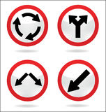 Verkehrszeichen des Kreises Stockbilder
