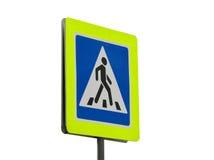 Verkehrszeichen des Zebrastreifens Lizenzfreies Stockfoto