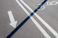 Verkehrszeichen für Radfahrer Lizenzfreie Stockfotos