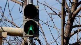 Verkehrszeichen-Straßenlaterne stock footage