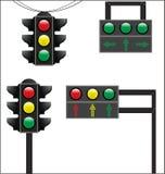 Verkehrszeichen von gerade Stock Abbildung