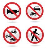 Verkehrszeichen von stillem Lizenzfreie Stockfotos
