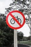 Verkehrszeichen von verbotenen Fahrrädern Lizenzfreie Stockfotografie