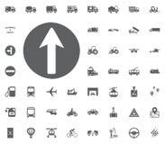 Verkehrszeichenikone Gesetzte Ikonen des Transportes und der Logistik Gesetzte Ikonen des Transportes Lizenzfreie Stockfotografie