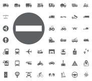 Verkehrszeichenikone Keine Eintrittsikone Gesetzte Ikonen des Transportes und der Logistik Gesetzte Ikonen des Transportes Lizenzfreie Stockfotografie