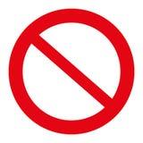 Verkehrszeichenillustration, das Zeichen nicht erlaubt, lokalisiert auf dem Weiß, Illustrationsvektor Stockfotografie