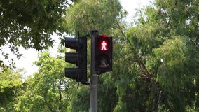 Verkehrszeichenlicht stock video footage