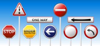 Verkehrszeichensammlung Stockfoto