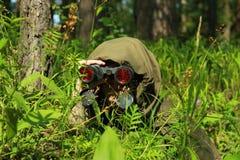 Verkenner in bos Stock Foto