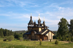 Verkhoturye. Simeonov stone. The Church of All Saints Resplendent in the Siberian Land. Royalty Free Stock Photos