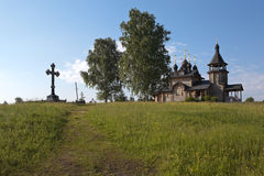 Verkhoturye. Simeonov stone. The Church of All Saints Resplendent in the Siberian Land. Royalty Free Stock Photography