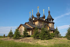 Verkhoturye. Simeonov stone. The Church of All Saints Resplendent in the Siberian Land. Stock Photos