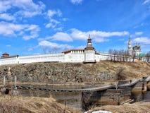 Verkhoturye stenKreml Ural andlig mittSverdlovsk region Ryssland fotografering för bildbyråer