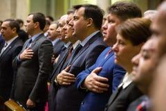 Verkhovna nouvellement élu Rada de l'Ukraine Photographie stock