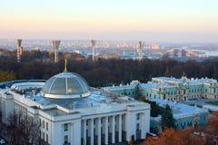 Verkhovna Rada,基辅,乌克兰 免版税库存照片