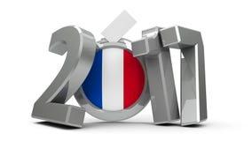 Verkiezing Frankrijk 2017 2 Royalty-vrije Illustratie