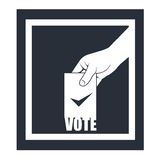 Verkiezing - hand met het stemmen van over bulletin Royalty-vrije Stock Fotografie
