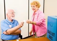 Verkiezing - Stemlokaal Stock Foto's