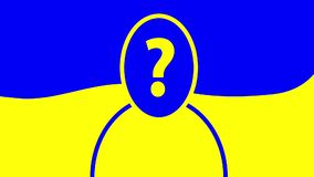 Verkiezing van de Voorzitter van de animatie van de Oekraïne Vraagteken als waterrimpeling vector illustratie