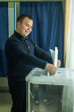 Verkiezingen aan de Douma van de Staat van Russische Federatie 18 September 2016 in het Kaluga-gebied royalty-vrije stock foto's