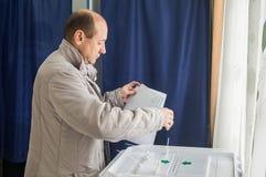 Verkiezingen aan de Douma van de Staat van Russische Federatie 18 September 2016 in het Kaluga-gebied Stock Foto's