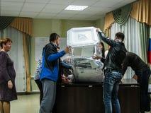 Verkiezingen aan de Douma van de Staat van Russische Federatie 18 September 2016 in het Kaluga-gebied Stock Afbeelding