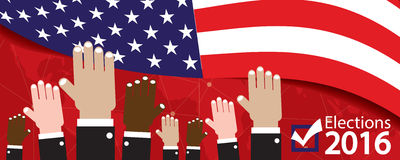 Verkiezingen 2016 Banner stock illustratie