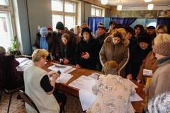 Verkiezingen in het Kaluga-gebied van Rusland stock foto's