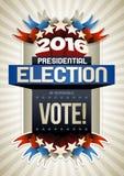 2016 Verkiezingsaffiche Stock Fotografie