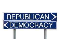 Verkiezingstekens Stock Fotografie