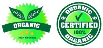 Verklaard Organisch Etiket Royalty-vrije Stock Afbeeldingen