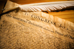 Verklaring van Onafhankelijkheid stock afbeeldingen