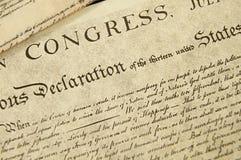 Verklaring van Onafhankelijkheid royalty-vrije stock afbeeldingen