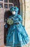 Verkleidet verbinden Sie - venetianischen Karneval 2014 Annecys stockfoto