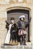 Verkleidet verbinden Sie - venetianischen Karneval 2014 Annecys stockfotografie