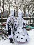 Verkleidete Paare Stockfoto