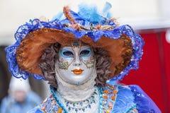 Verkleidete Person - venetianischer Karneval 2013 Annecys Lizenzfreie Stockbilder