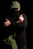 Verkleideter bewaffneter Bandit Stockbilder