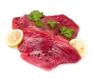 Verkleidung des frischen Thunfischs stockfoto