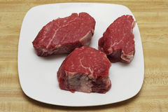 Verkleidungmignon-Steaks Stockfoto