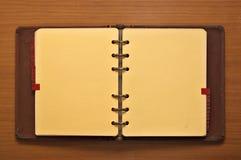 Verklemmtes Journal des Leders Stockbilder