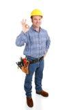 verklig arbetare för aokay konstruktion Royaltyfri Foto
