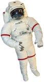 Verklig astronaut Spacesuit Isolated Arkivfoton