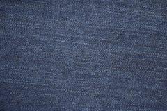 Verklig blå textur för grov bomullstvilljeansbakgrund Arkivbilder