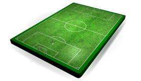 verklig halv fotbollstadion Royaltyfria Bilder