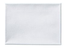 Verklig kanfas coated vid den isolerade vita abc-bok Arkivfoto